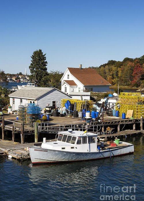 New Castle Greeting Card featuring the photograph Lobster Boat by John Greim