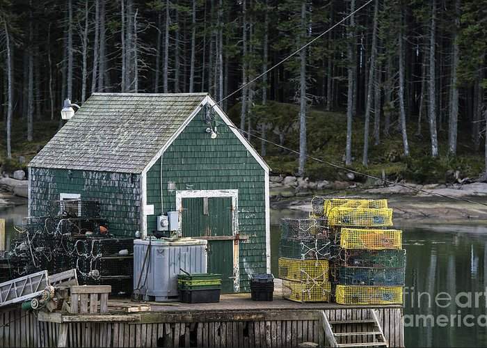Deer Island Greeting Card featuring the photograph Lobster Shack by John Greim
