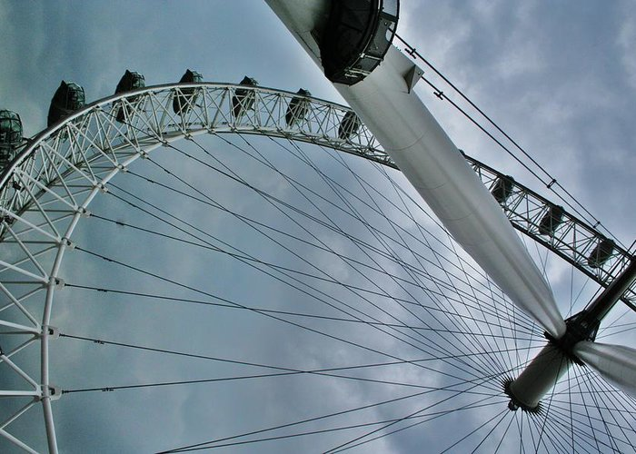London Eye Greeting Card featuring the photograph London Eye by Christopher Hoffman