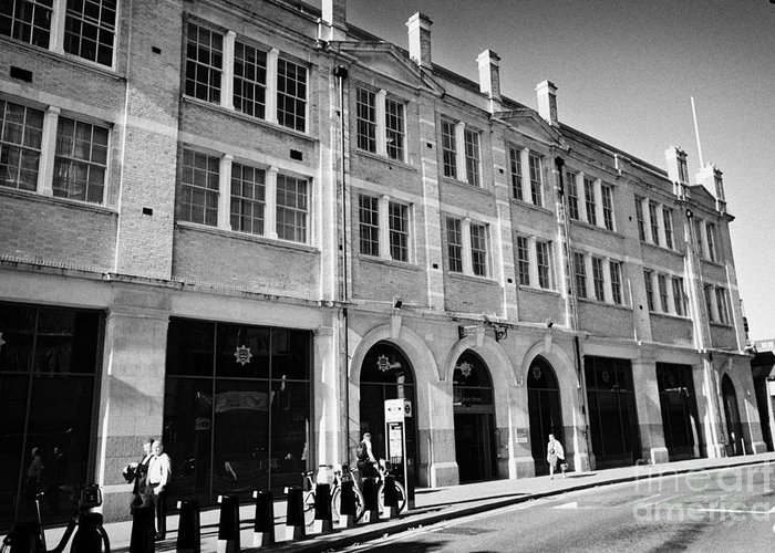 London Greeting Card featuring the photograph London Fire Brigade Headquarters Union Street Southwark England Uk by Joe Fox