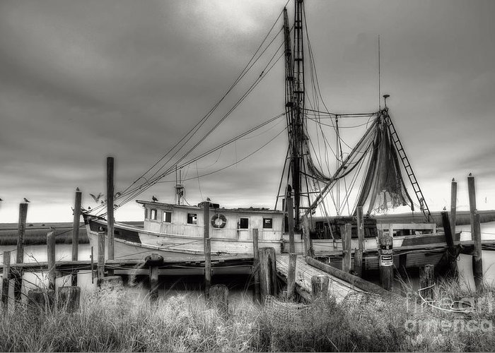 Shrimp Boat Greeting Card featuring the photograph Lowcountry Shrimp Boat by Scott Hansen