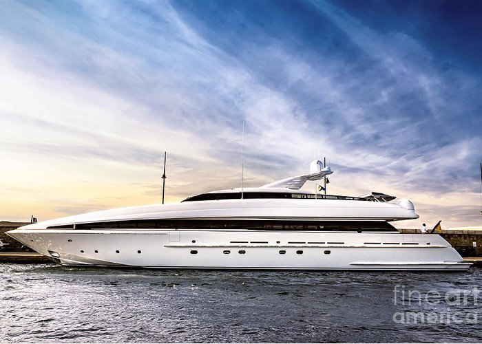 Yacht Greeting Card featuring the photograph Luxury Yacht by Elena Elisseeva