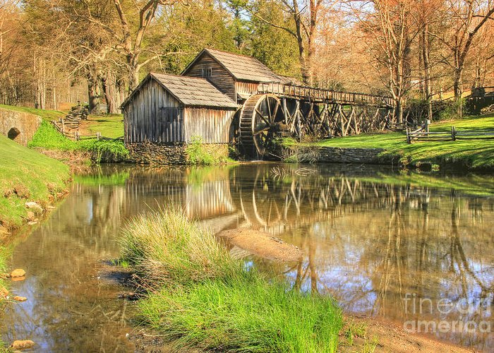 Landscape Greeting Card featuring the photograph Mabry Mill 2 by Paul Johnson