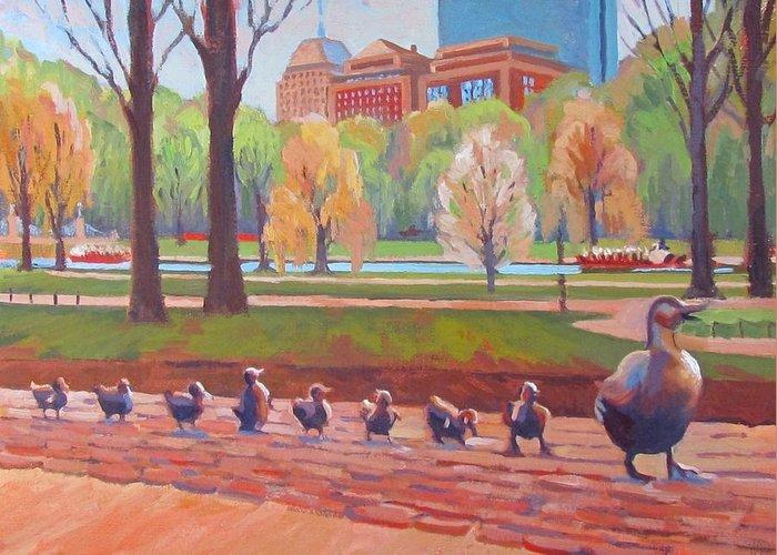 Ducklings Paintings Greeting Cards