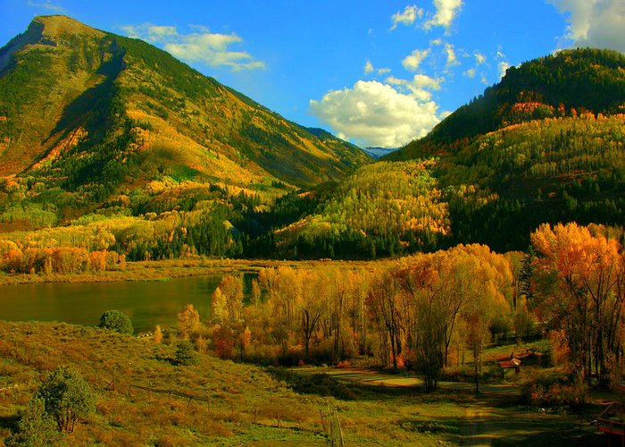 Aspen Greeting Card featuring the photograph Marble Valley by Susan Thomas