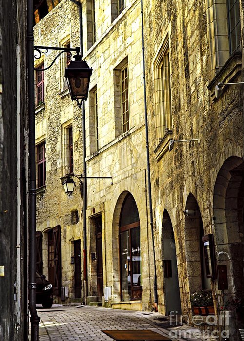 Perigueux Greeting Card featuring the photograph Medieval Street In France by Elena Elisseeva