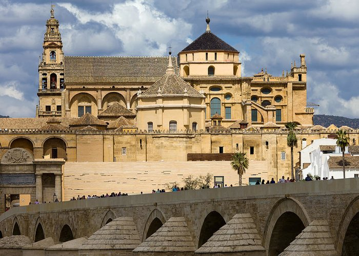 Cordoba Greeting Card featuring the photograph Mezquita Cathedral In Cordoba by Artur Bogacki