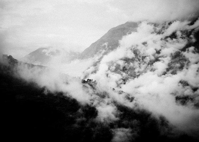 Gosaikunda Greeting Card featuring the photograph Mist In Mountain Himalayas by Raimond Klavins