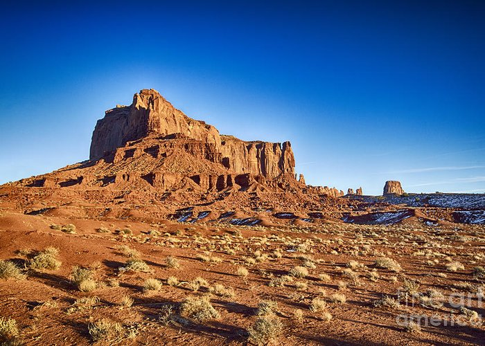 Monument Valley Greeting Card featuring the photograph Monument Valley -utah V5 by Douglas Barnard