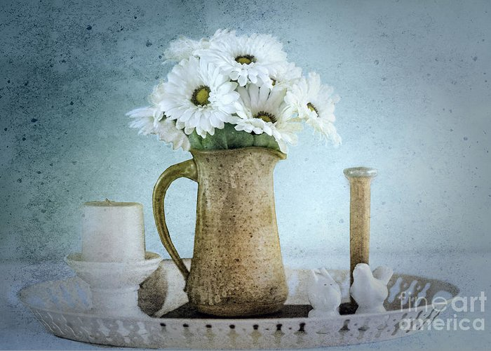 Still Life Greeting Card featuring the photograph Moody Blue by Betty LaRue