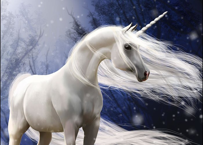 Horse Greeting Card featuring the digital art Moonbeam The Second by Kate Black