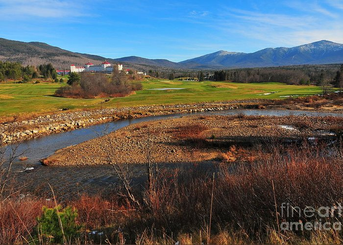 Route 302. Fall At Mount Washington Hotel Greeting Cards