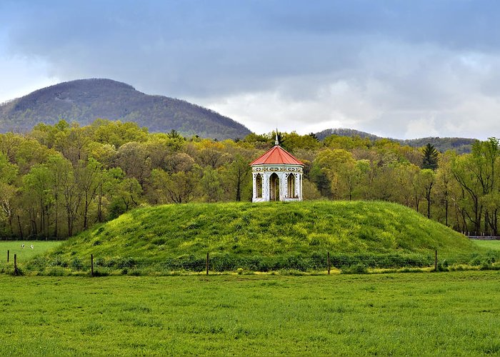 Mound Gazebo Indian Mountains Greeting Card featuring the photograph Nacoochee Indian Mound by Susan Leggett