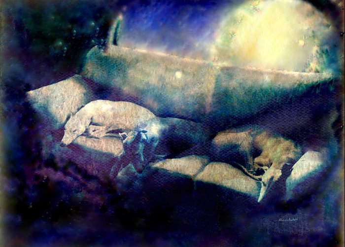 Greeting Card featuring the mixed media Nap Time Dreams by YoMamaBird Rhonda