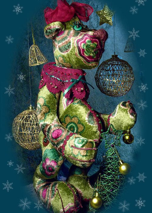 New-year Bear Greeting Card featuring the photograph New-year Bear by Svitlana Denysova