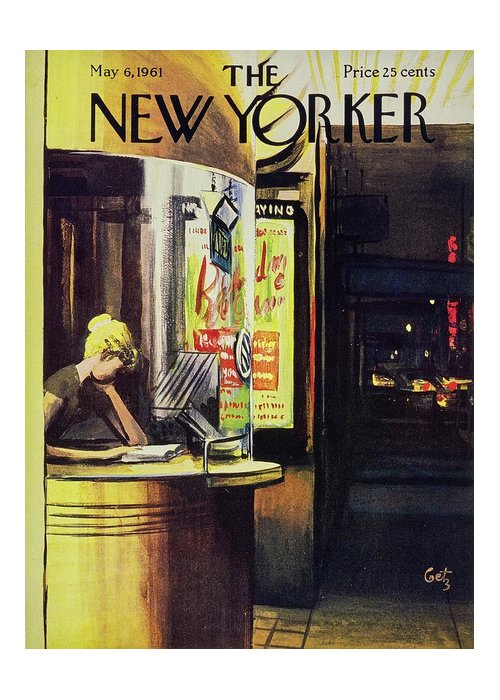 Illustration Greeting Card featuring the painting New Yorker May 6th 1961 by Arthur Getz