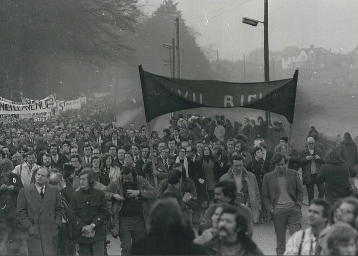 retro Images Archive Greeting Card featuring the photograph Newry March Passes Off Peacefully by Retro Images Archive