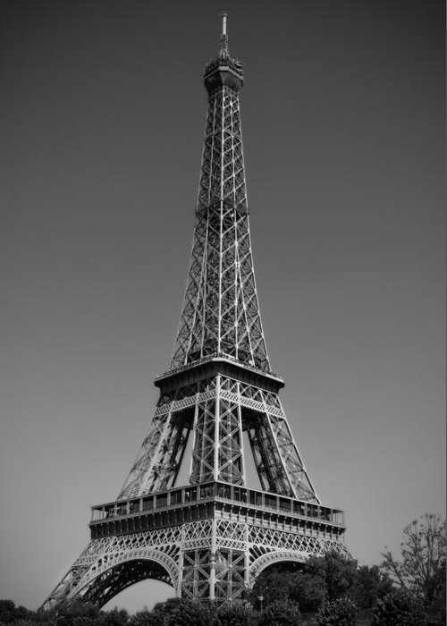 Not A Cloud In Paris Greeting Card featuring the photograph Not A Cloud In Paris by Kamil Swiatek