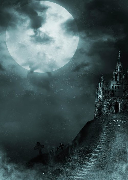 Gothic Style Greeting Card featuring the photograph Old Castle by Vladgans