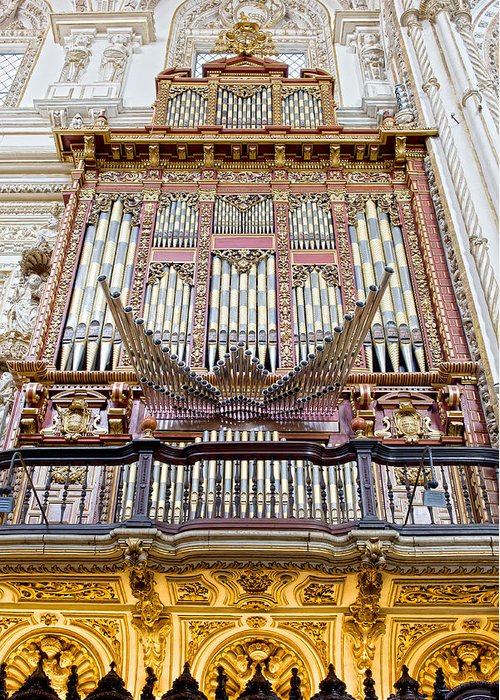 Cordoba Greeting Card featuring the photograph Organ In Cordoba Cathedral by Artur Bogacki