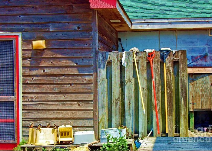 Building Greeting Card featuring the photograph Out To Dry by Debbi Granruth