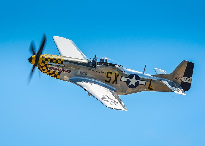 P51 Photographs Photographs Greeting Card featuring the photograph P-51 Mustang by Puget Exposure