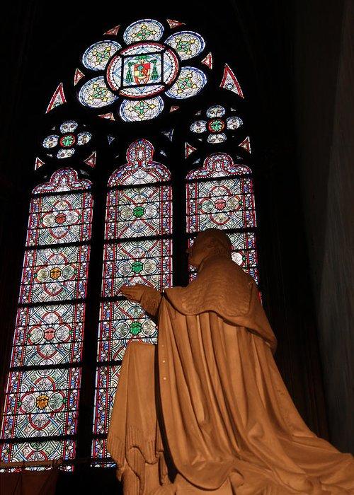 Aged Greeting Card featuring the photograph Paris France - Notre Dame De Paris - 011312 by DC Photographer
