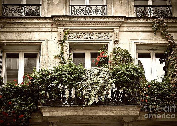 Window Greeting Card featuring the photograph Paris Windows by Elena Elisseeva