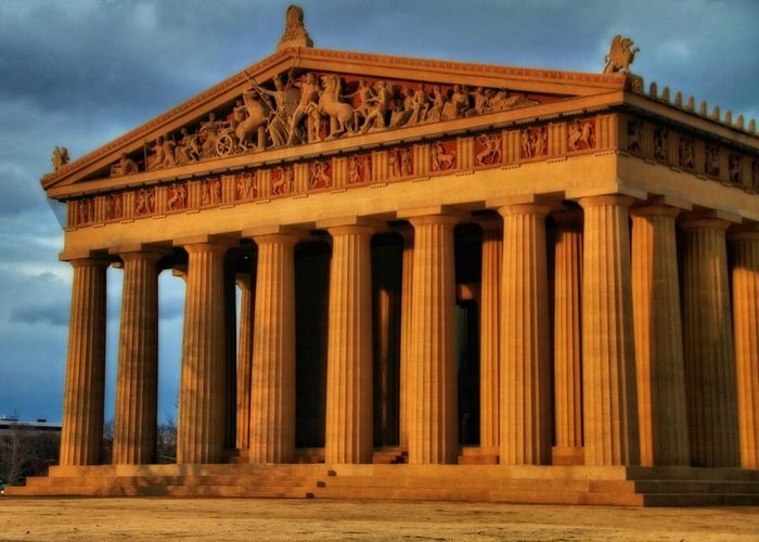 Parthenon Greeting Card featuring the photograph Parthenon by Dan Sproul