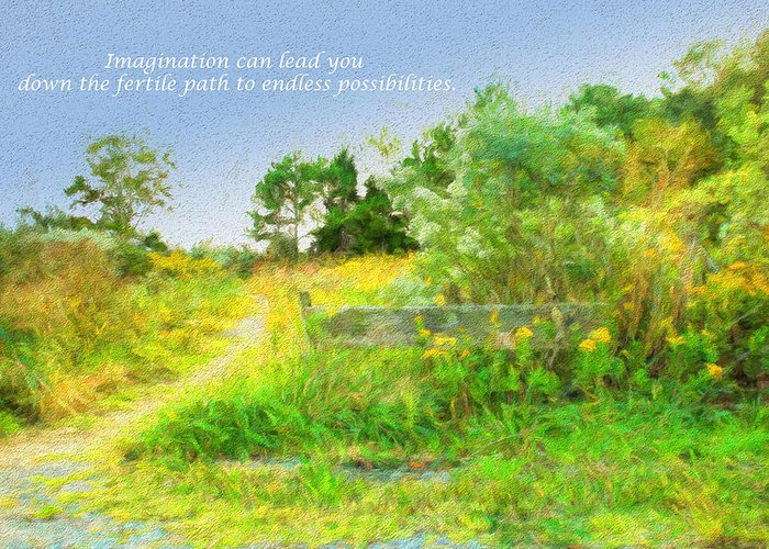 Path Greeting Card featuring the photograph Pathway To The River by Ola Allen