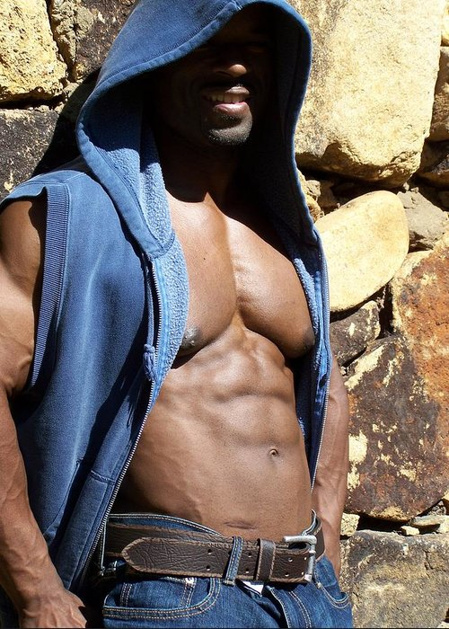 Rate My Pecs Greeting Card featuring the photograph Pecs by Jake Hartz