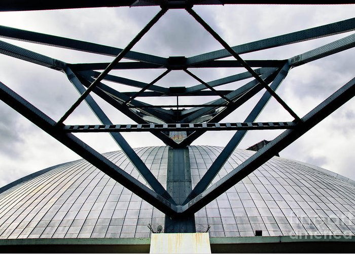 Architecture Greeting Card featuring the photograph Perspectives Mellon Arena by Amy Cicconi