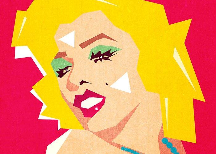 Pop Art Greeting Card featuring the digital art Pop Art  by Mark Ashkenazi