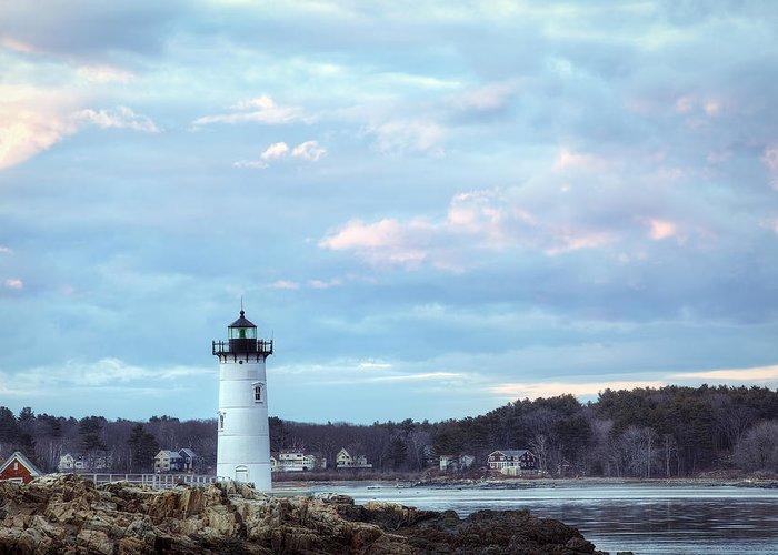 Portsmouth Harbor Light Greeting Card featuring the photograph Portsmouth Harbor Light by Eric Gendron