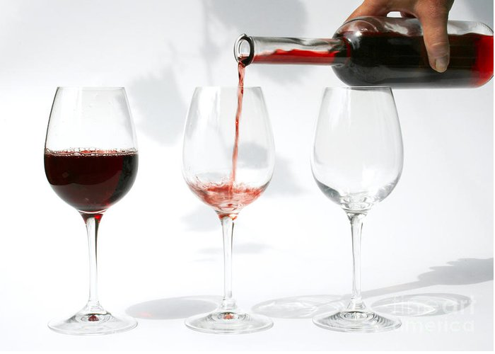 Alcohol Greeting Card featuring the photograph Pouring Red Wine Into Glass by Patricia Hofmeester