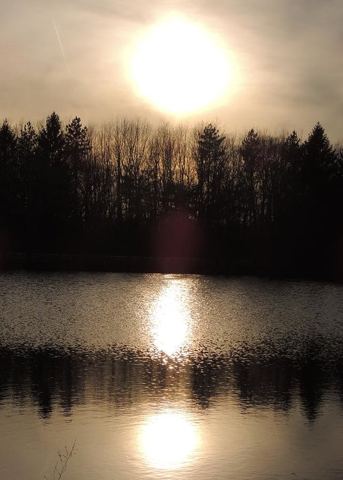 Sunset Greeting Card featuring the photograph Radiance by Teresa Schomig