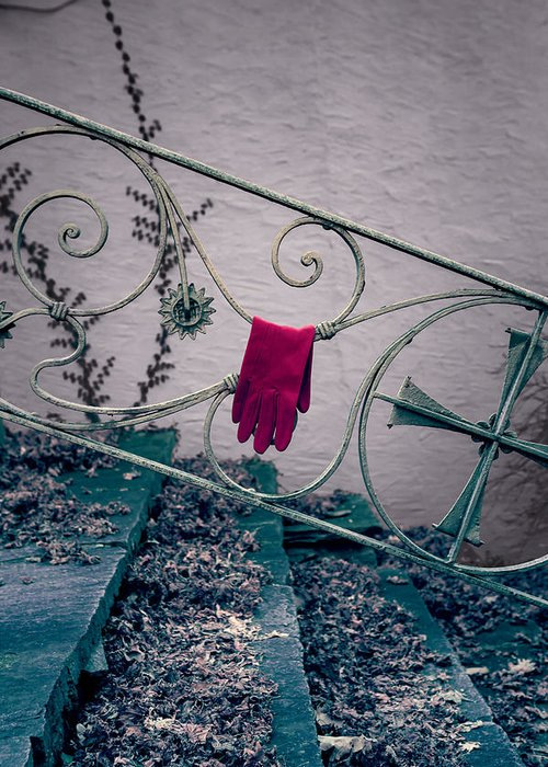 Glove Greeting Card featuring the photograph Red Glove by Joana Kruse