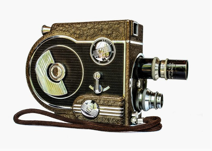 Movie Greeting Card featuring the photograph Revere 8 Movie Camera by Jon Woodhams
