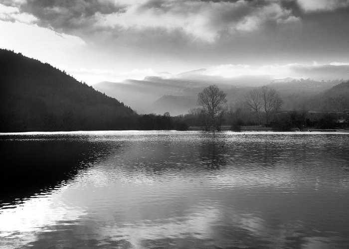 Auvergne Greeting Card featuring the photograph Romantic Lake by Bernard Jaubert