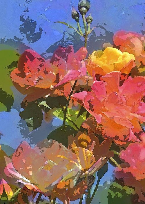 Floral Greeting Card featuring the photograph Rose 208 by Pamela Cooper