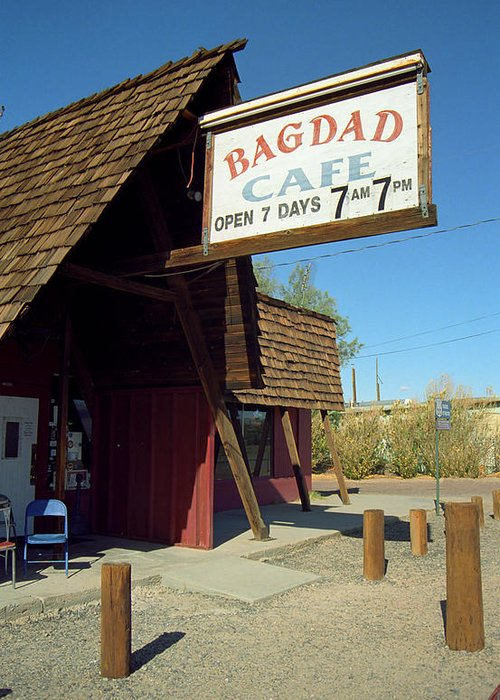 66 Greeting Card featuring the photograph Route 66 - Bagdad Cafe by Frank Romeo