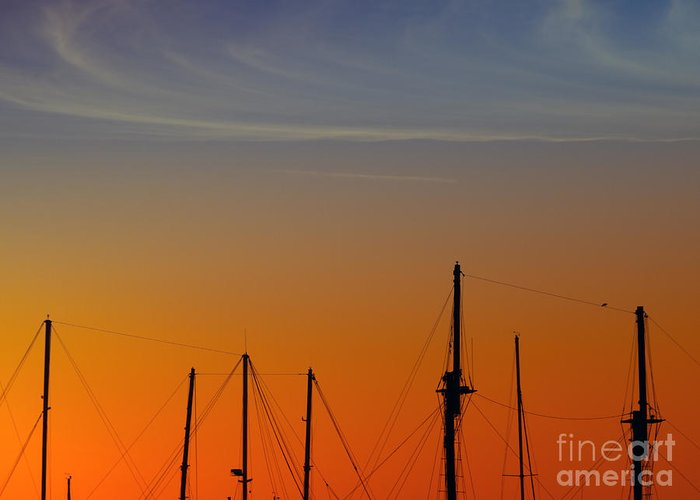 Sea Greeting Card featuring the photograph Sailing Boats by Stelios Kleanthous