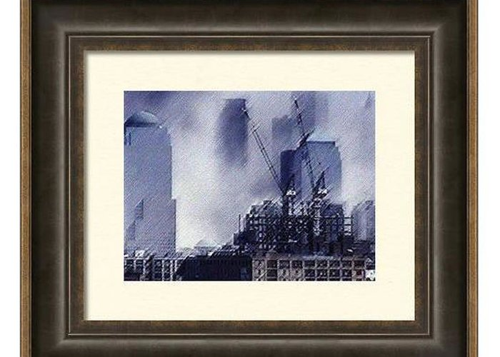 9/11 Greeting Card featuring the digital art Sample Example Grey by James Kosior