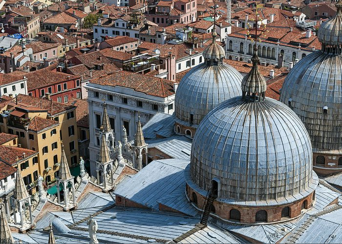 Venice Greeting Card featuring the photograph San Marco Basilica. Venice. by Fernando Barozza