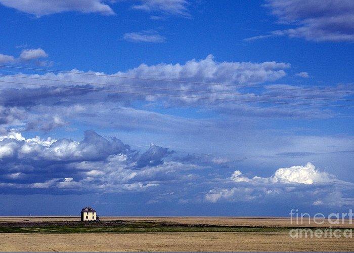 Saskatchewan Prairie Greeting Card featuring the photograph Saskatchewan Farmland by Mark Newman