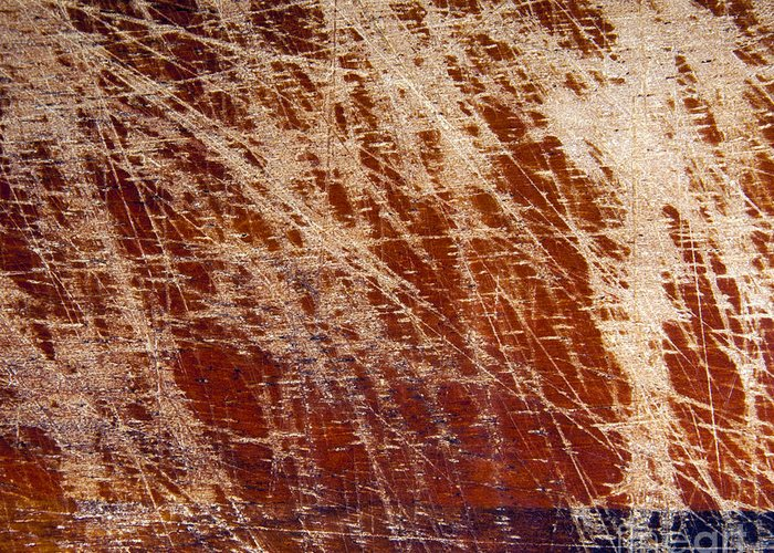 Backdrop Greeting Card featuring the photograph Scratched Wood Texture by Tim Hester