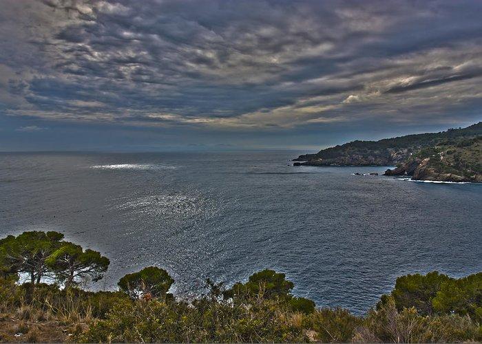 Cliff Greeting Card featuring the photograph Sea by Antonio Macias Marin