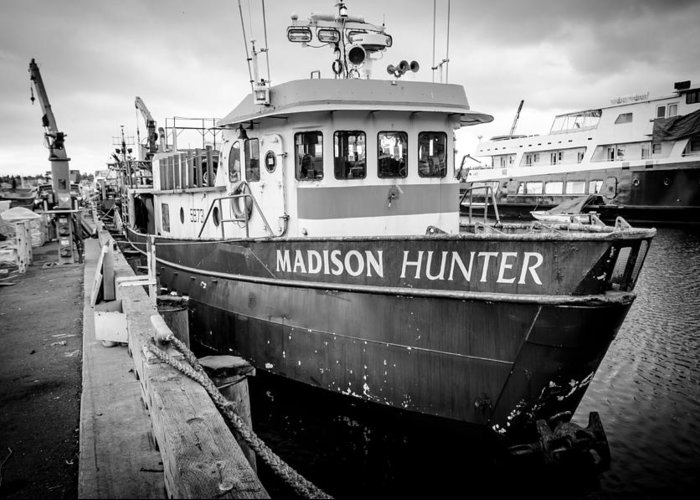 Seattle Greeting Card featuring the photograph Seattle Fisherman Wharf by Puget Exposure