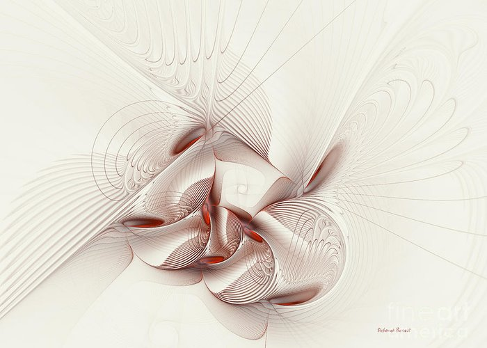 Digital Art Greeting Card featuring the digital art Silver And Red by Deborah Benoit