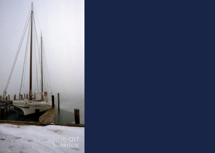Maritime Greeting Card featuring the photograph Skipjack by Skip Willits